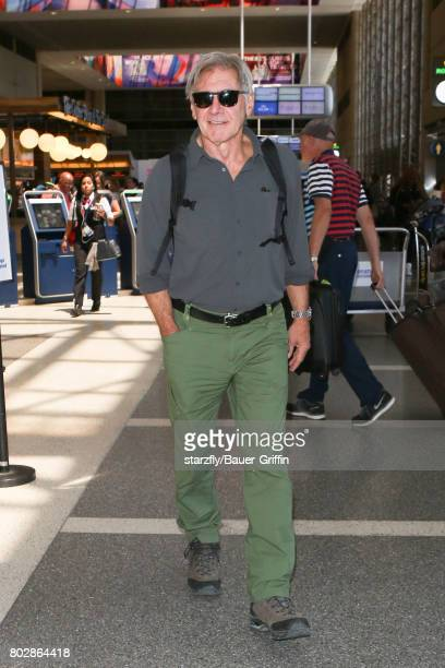 Harrison Ford is seen at LAX on June 28 2017 in Los Angeles California