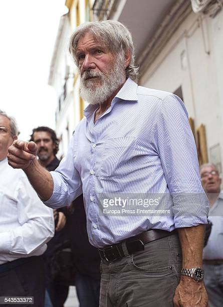 Harrison Ford is seen visiting the MosqueCathedral World Heritage Site since 1984 on June 28 2016 in Cordoba Spain