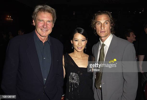 Harrison Ford Lucy Liu and Matthew McConaughey during AMC Movieline's Hollywood Life Magazine's Young Hollywood Awards Inside at El Rey Theatre in...