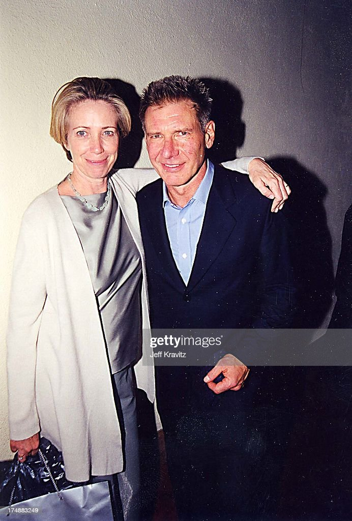 Harrison Ford & Melissa Mathison during GQ Party 2000 at Sunset Room in Los Angeles, California, United States.