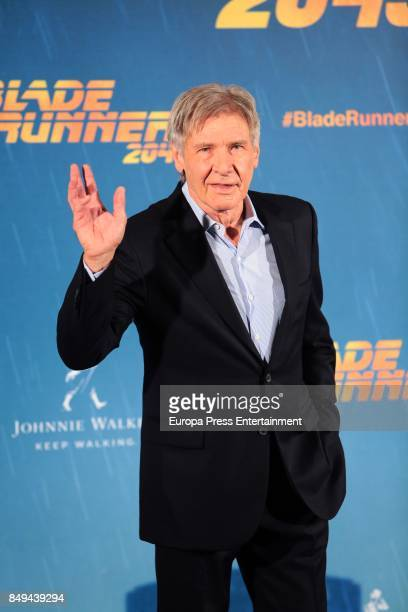 Harrison Ford poses for the 'Blade Runner 2049' photocall at Villa Magna hotel on September 19 2017 in Madrid Spain