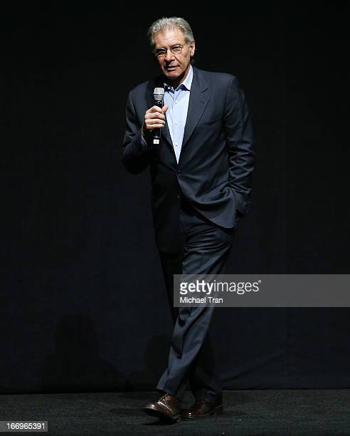 Harrison Ford speaks at a Lionsgate presentation to promote his upcoming film Ender's Game held at Caesars Palace during CinemaCon the official...