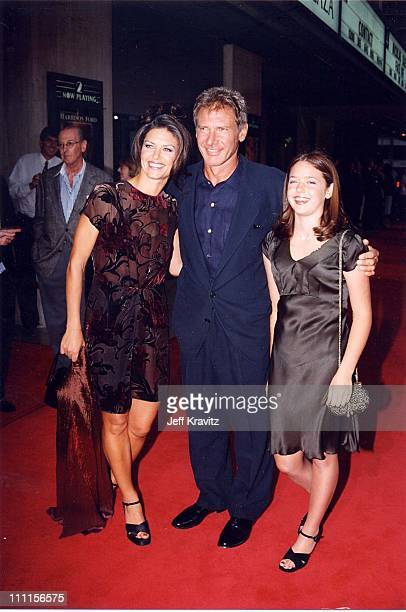 Harrison Ford Wendy Crewson Liesel Matthews during Air Force One Premiere in Los Angeles California United States