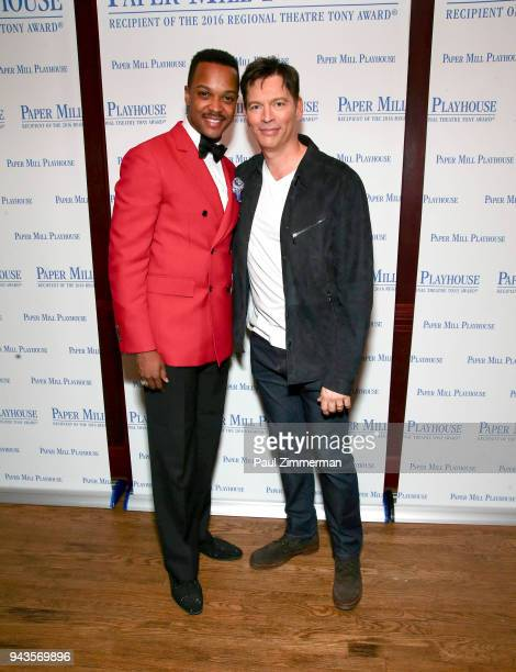 J Harrison Ghee and Harry Connick Jr attend 'The Sting' Opening Night at South Mountain Tavern on April 8 2018 in South Orange New Jersey