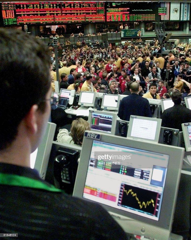 Harrison Jacaman Looks Over The Nasdaq100 Futures Trading Pit At