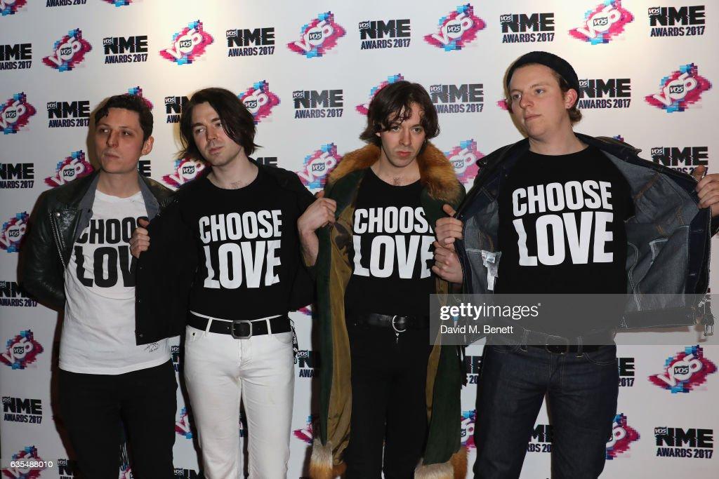 VO5 NME Awards 2017 - Inside Arrivals