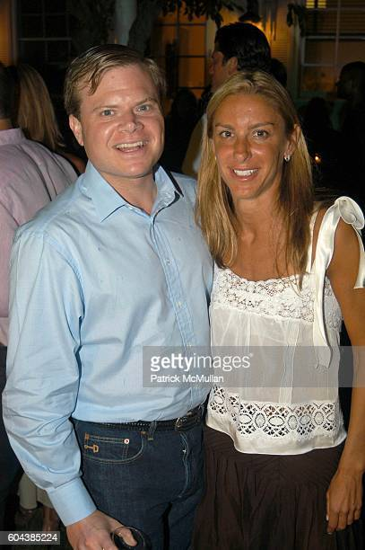 Harrison LeFrak and Dori Cooperman attend Cocktail Party With Steven Schonfeld Celebrating Mindy Greenblatt's Birthday at Watermill on August 19 2006