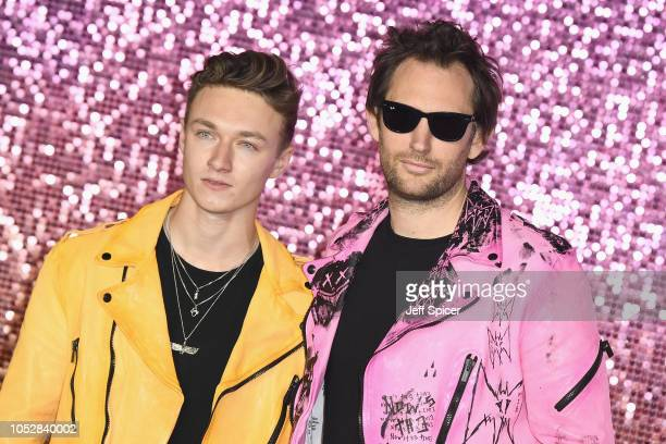Harrison Osterfield and Marc Jacques Burton attend the World Premiere of 'Bohemian Rhapsody' at SSE Arena Wembley on October 23 2018 in London England