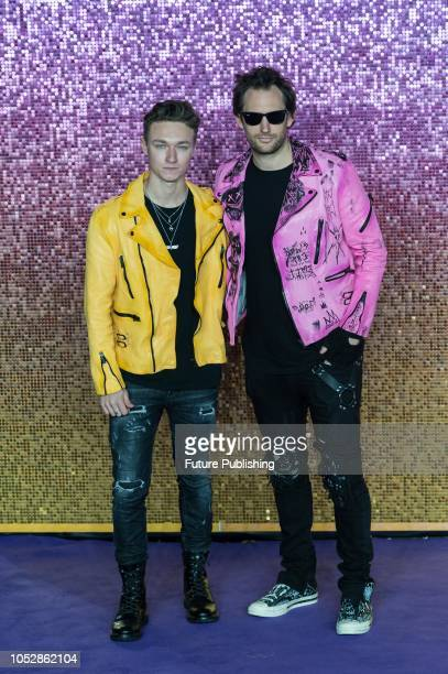 Harrison Osterfield and Marc Jacques Burton attend the World Premiere of 'Bohemian Rhapsody' at the SSE Arena Wembley in London October 23 2018 in...