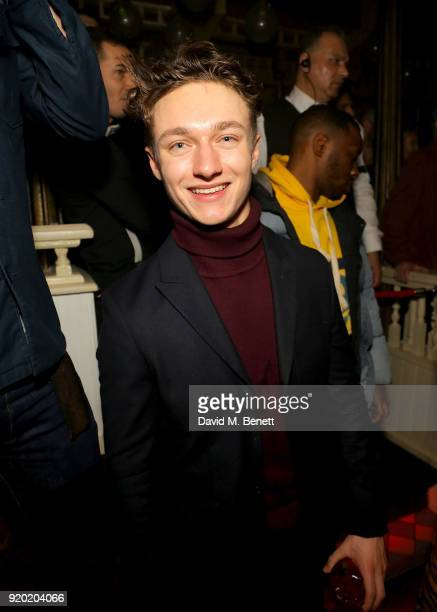 Harrison Osterfield attends The Box's 7th Birthday with lovebullets in partnership with Belvedere Vodka at The Box on February 18 2018 in London...