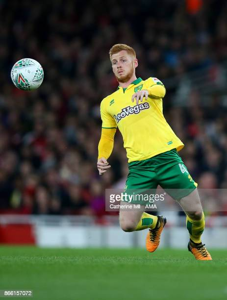 Harrison Reed of Norwich City during the Carabao Cup Fourth Round match between Arsenal and Norwich City at Emirates Stadium on October 24 2017 in...
