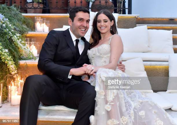 Harrison Refoua and Alexa Dell attend their engagement celebration at Ysabel on May 12 2018 in West Hollywood California