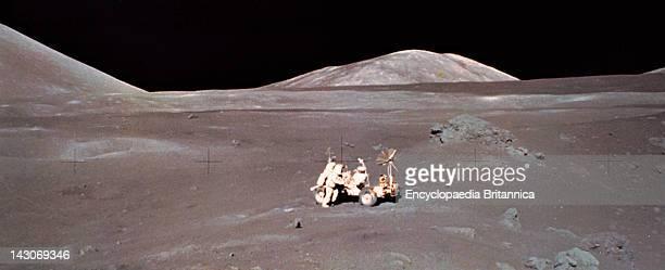 Harrison Schmitt Working At Lunar Roving Vehicle Apollo 17 ScientistAstronaut Harrison Schmitt Working At The Lunar Roving Vehicle At The...