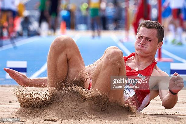 Harrison Schrage from USA competes in men's long jump qualification while the IAAF World U20 Championships Day 1 at Zawisza Stadium on July 19 2016...