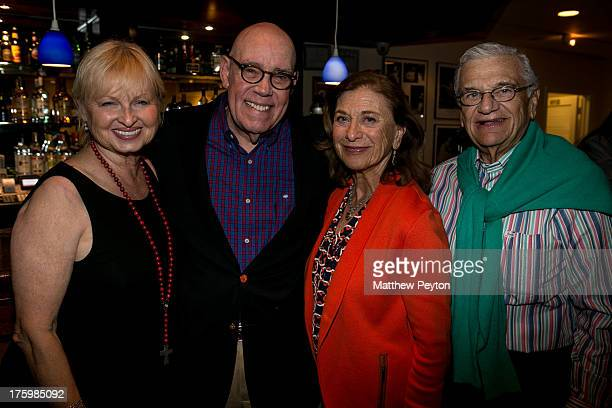 Harrison Schuck, actor Conrad John Schuck, Bay Street Theater board members Adrienne Cohen and Jerry Cohen attend the afterparty for Opening Night: A...