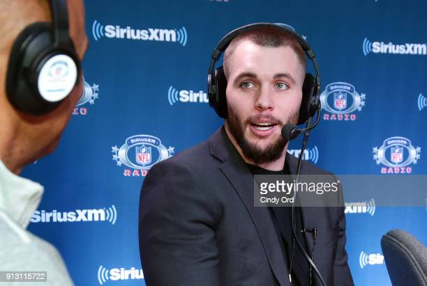 Harrison Smith of the Minnesota Vikings attends SiriusXM at Super Bowl LII Radio Row at the Mall of America on February 1 2018 in Bloomington...