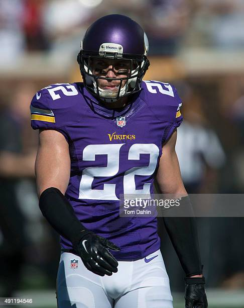 Harrison Smith of the Minnesota Vikings warms up prior to an NFL game against the San Diego Chargers at TCF Bank Stadium September 27 2015 in...