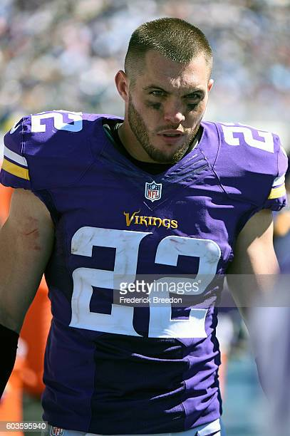 Harrison Smith of the Minnesota Vikings watches from the sideline during a game against the Tennessee Titans at Nissan Stadium on September 11 2016...
