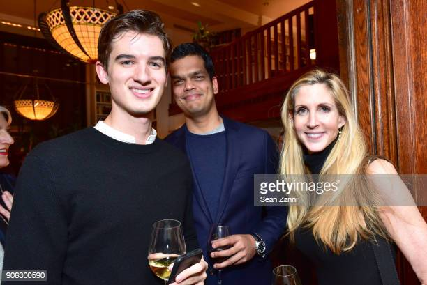 Harrison Vail Sriram Krishnan and Ann Coulter attend publisher Henry Holt toasts Michael Wolff's 'Fire and Fury' at Private Residence on January 17...