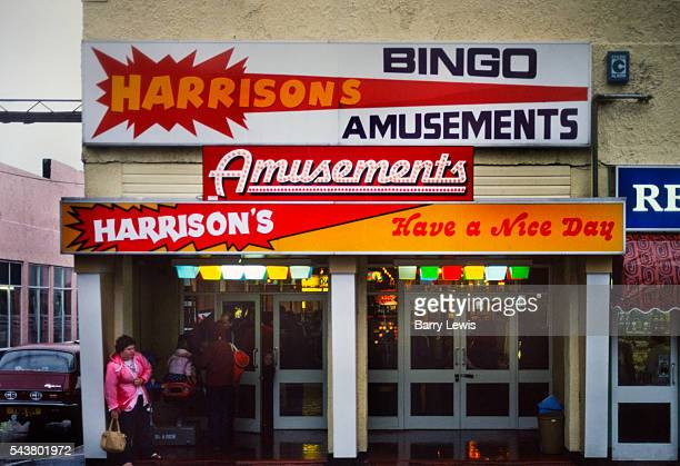 Harrisons amusements on a rainy day in Butlins holiday camp Skegness Butlins Skegness is a holiday camp located in Ingoldmells near Skegness in...