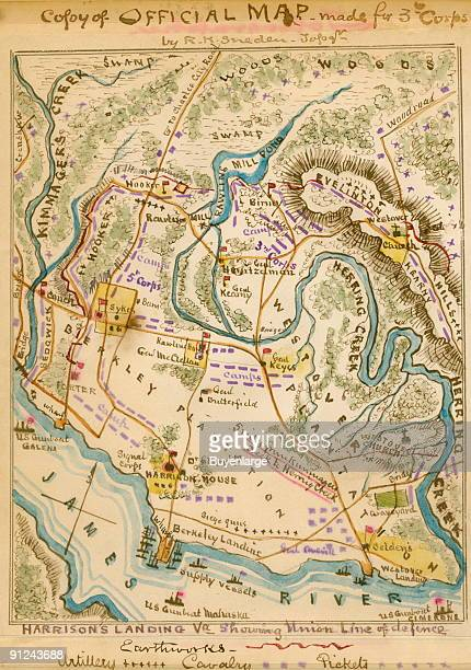 Harrison's Landing along the James River of the camps of the US Army of the Potomac after the Seven Days' Battles 25 June1 July 1862 Includes...
