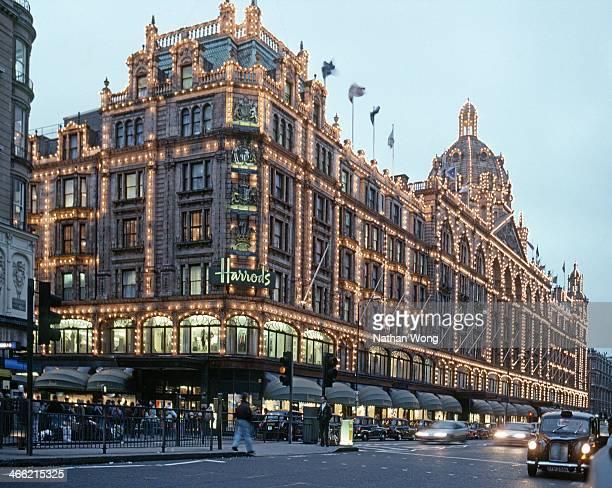 Harrods department store in Knightsbridge, London.