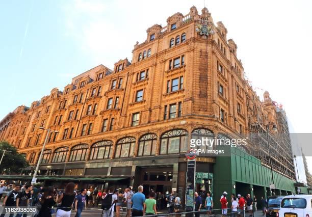 Harrods department store seen at Knightsbridge in London.