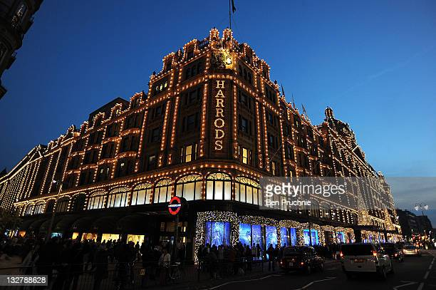 Harrods displays its festivities as Christmas approaches on November 14 2011 in London United Kingdom
