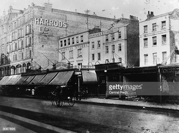 Harrod's store and original shop in Knightsbridge, London.