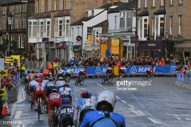 Harrogate City / Fans / Public / Peloton / during the 92nd UCI Road World Championships 2019 Men Under 23 Road Race a 173km race from from Doncaster...