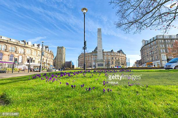 harrogate yorkshire england uk city spring scene - harrogate stock pictures, royalty-free photos & images