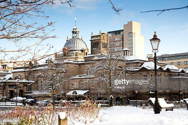 harrogate yorkshire in winter - harrogate stock pictures, royalty-free photos & images
