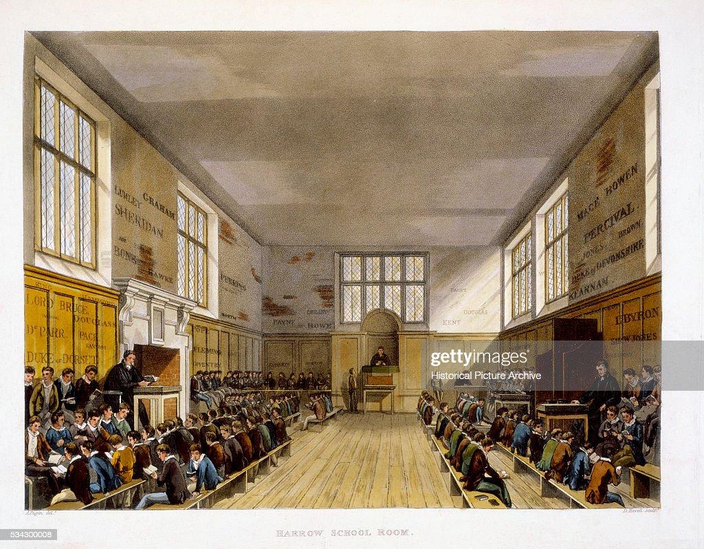 Harrow School Room By Augustus Pugin Pictures Getty Images # Augustus Pugin Muebles
