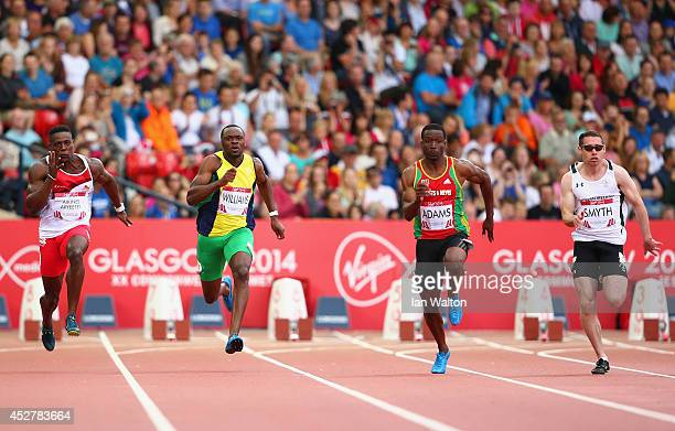 Harry AikinesAryeetey of England Courtney Williams of St Vincent and Grenadines Antoine Adams of St Kitts and Nevis and Jason Smyth of Northern...