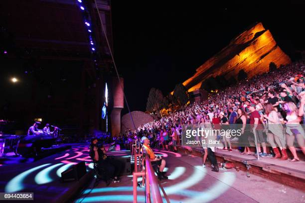 Harry and Zion Godchaux of Boombox perform at Red Rocks Amphitheatre on June 9 2017 in Morrison Colorado