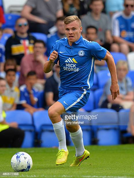 Harry Anderson of Peterborough United during the Pre Season Friendly match between Peterborough United and West Ham United at London Road Stadium on...