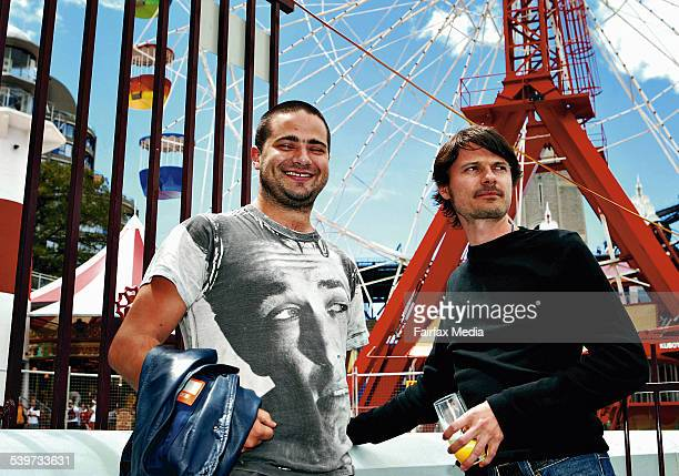 Harry Angus from Cat Empire and Darren Middleton from Powderfinger at the Aria Number 1 Chart Awards Luna Park 17 November 2005 SHD Picture by...