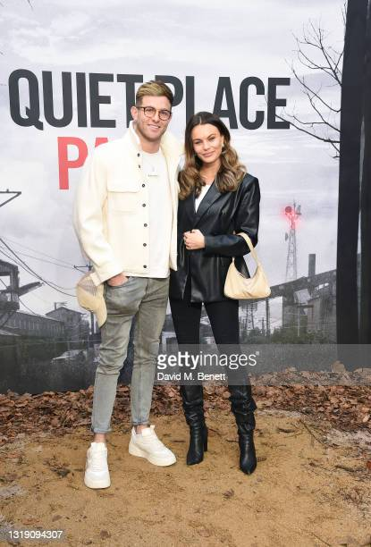 """Harry Armstrong and Emily Blackwell attend a special screening of """"A Quiet Place Part II"""" at Cineworld Leicester Square on May 20, 2021 in London,..."""