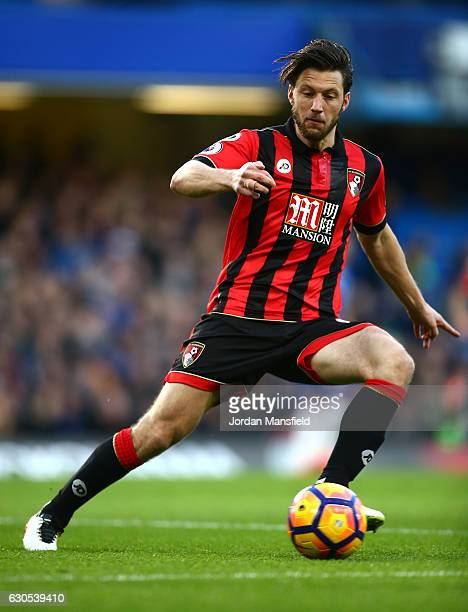 Harry Arter of AFC Bournemouth in action during the Premier League match between Chelsea and AFC Bournemouth at Stamford Bridge on December 26 2016...
