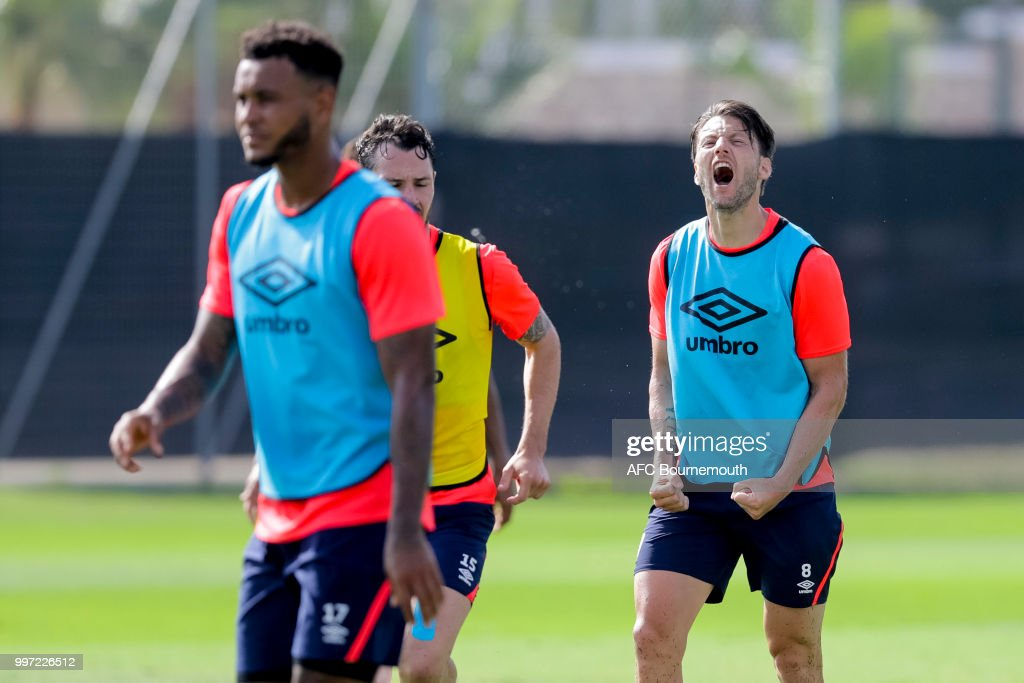 Harry Arter of Bournemouth during training session at the clubs pre-season training camp at La Manga, Spain on July 12, 2018 in La Manga, Spain.