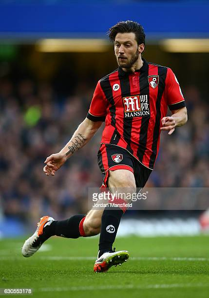 Harry Arter of Bournemouth in action during the Premier League match between Chelsea and AFC Bournemouth at Stamford Bridge on December 26 2016 in...