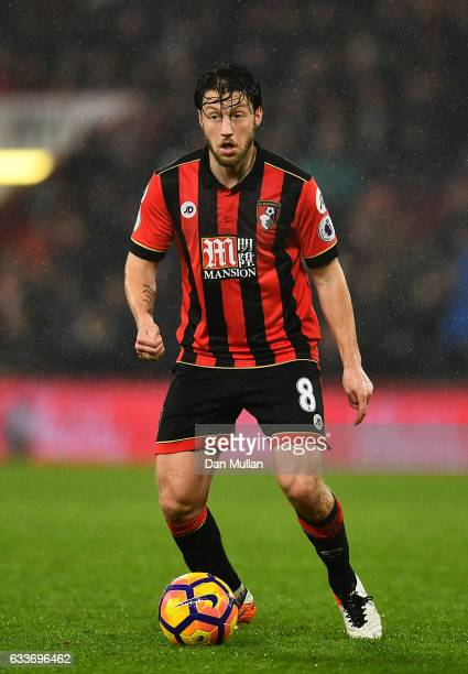 Harry Arter of Bournemouth in action during the Premier League match between AFC Bournemouth and Crystal Palace at Vitality Stadium on January 31...