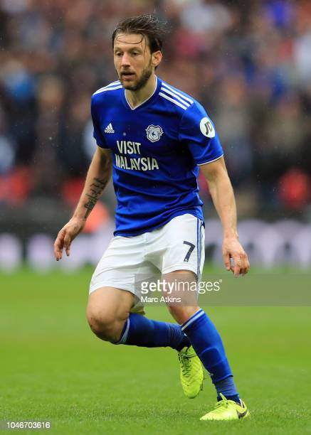 Harry Arter of Cardiff City during the Premier League match between Tottenham Hotspur and Cardiff City at Tottenham Hotspur Stadium on October 6 2018...