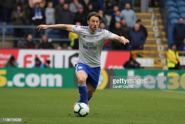 Harry Arter of Cardiff City FC during the Premier League match between Burnley FC and Cardiff City at Turf Moor on April 13 2019 in Burnley United...