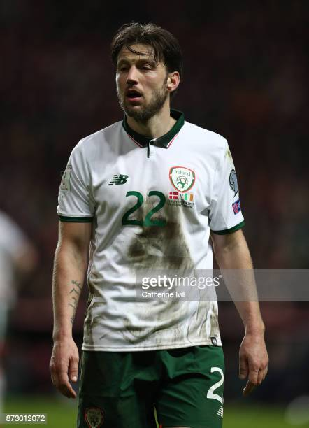 Harry Arter of Republic of Ireland during the FIFA 2018 World Cup Qualifier PlayOff First Leg between Denmark and Republic of Ireland at Telia Parken...