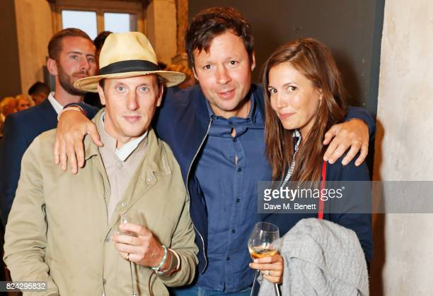 Harry Beecher Duncan Westbrook and Amanda Sheppard attend Krug Festival 'Into The Wild' at The Grange Hampshire on July 29 2017 in Northington United...