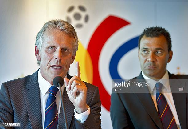 Harry Been and Ruud Gullit of the Holland Belgium Bid attends a press conference after the visit of the FIFA inspection commission in the Amsterdam...