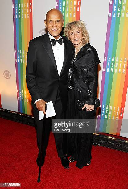 Harry Belafonte and his wife Pamela attend the The 36th Kennedy Center Honors gala at The Kennedy Center on December 8 2013 in Washington DC