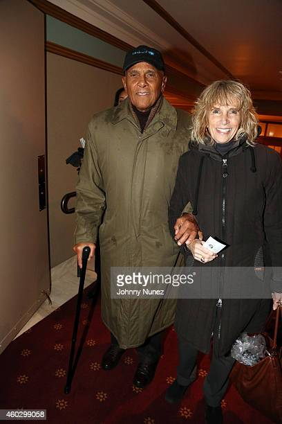 Harry Belafonte and his wife Pamela Frank attend the Alvin Ailey American Dance Theater premiere of ODETTA on December 10 in New York City