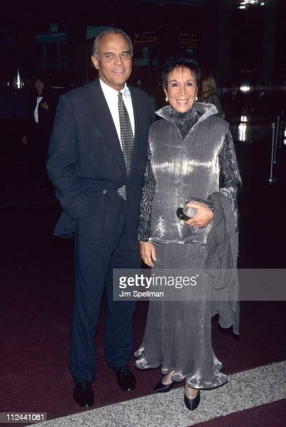 Harry Belafonte and Julie Belafonte during HELP Decade Tribute Dinner at Windows on the World in New York City New York United States